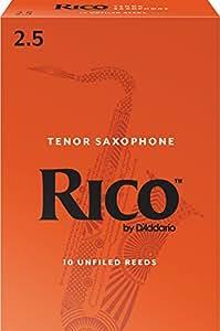 RICO リード テナーサクソフォーン 強度:2.5(10枚入)アンファイルド RKA1025