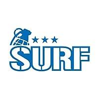 ミリタリー SURF サーフ カッティング ステッカー ブルー 青