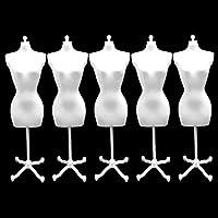 [GLEOOD] 1/6 ドールトルソー 人形用 ミニチュア マネキン トルソー 5個 セット ホワイト 白