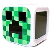 Minecraft マインクラフト Creeper クリーパー Aタイプ デジタル 置き時計 目覚まし時計