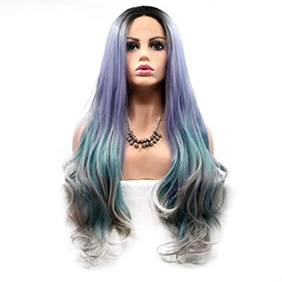 オーロックバーガーオリエントヘアピース 女性用カラーウィッグ混合色ロングヘアカーリーナチュラルウィッグ
