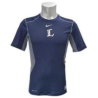 Nike(ナイキ) 埼玉西武ライオンズ Pro Combat Hypercool Short Sleeve Crew Neck シャツ (ネイビー) - XL