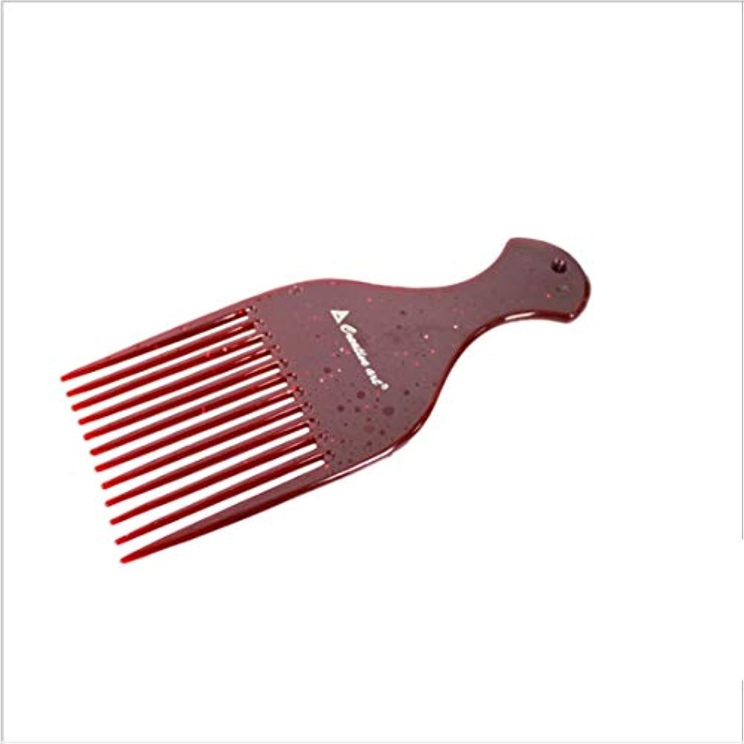 マインド居住者叱るGuomao 理髪師のフォーク-7inchの長さのための滑らかな毛の調整の熊手の櫛 (色 : Chocolate)