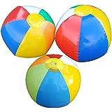 3個セット ビーチボール インフレータブル ボール ビーチおもちゃ 水遊び カラフル プール 海用 Kungfu Mall
