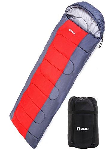 LICLI 寝袋 冬用 -10度 コンパクト 軽量 封筒型 シュラフ 1.8kg フード付き 220cm 収納袋付き 8カラー 最低...