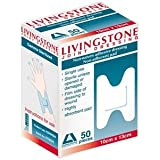 """Adhesive Joint Dressing Medium Size Width: 8.5cm, Length: 12.5cm, Material: Non-woven Shape looks like letter """"H"""", 50 per Box"""