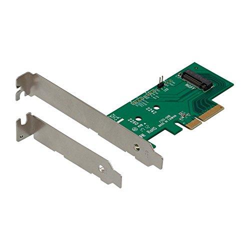オウルテック M.2 スロット増設 PCI-Express x4接続 2280、2260、2242対応 ロープロファイルブラケット付き 1年保証 OWL-PCEXM2-01