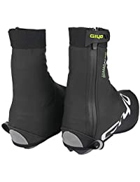 PROKTH 防水シューズカバー 再利用可能 サイクリング オーバーシューズ 厚底 高反射 保温靴カバー MTB ロード自転車 バイク レーシング オーバーシューズ