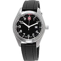 Victorinox Men's Garrison 34mm Silicone Band Steel Case Quartz Watch 26033.CB
