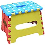 MEIGUIshop Stool-Folding Portable Small dot Folding Stool (Color : Multi-Colored)