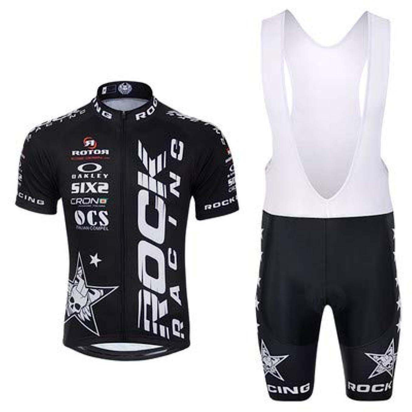 枯渇一目イブサイクルジャージ上下セット/男性用自転車サイクルウェア半袖/吸汗速乾/通気がいい/春夏用上下セッド
