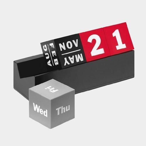 MoMA キューブ カレンダー,レッド