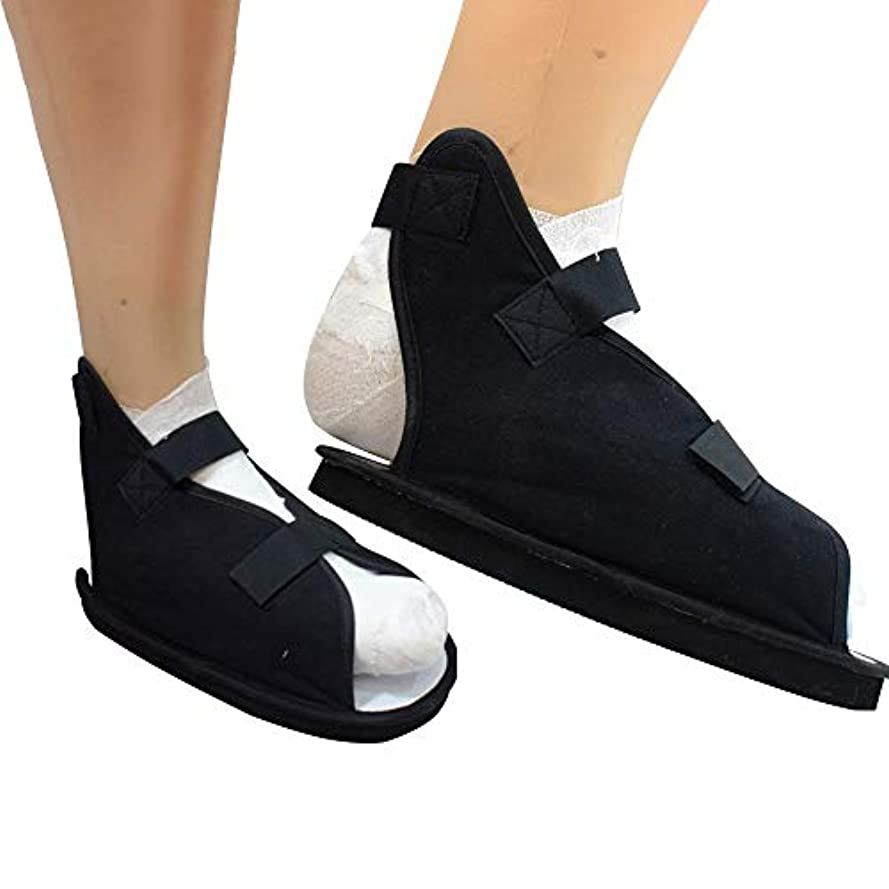 やりがいのある観光リスナー調整可能な術後オープントゥシューズ - 軽量医療用ウォーキングブーツ - 足首骨折用術後シューズ(1パック) (Size : L)