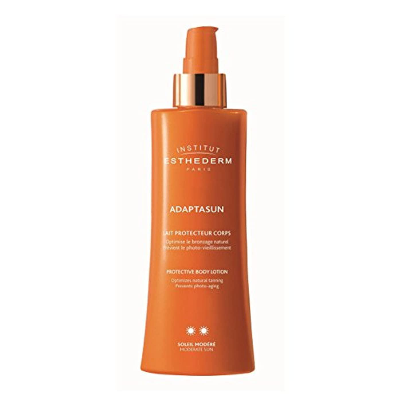 パラシュート傾向銀Institut Esthederm Protective Body Lotion Moderate Sun 200ml [並行輸入品]