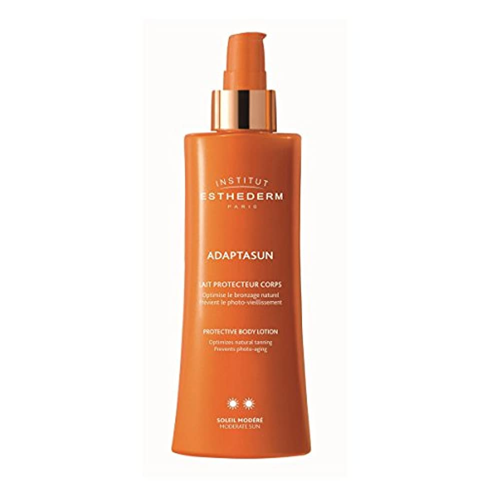 バッジ忌み嫌う横Institut Esthederm Protective Body Lotion Moderate Sun 200ml [並行輸入品]