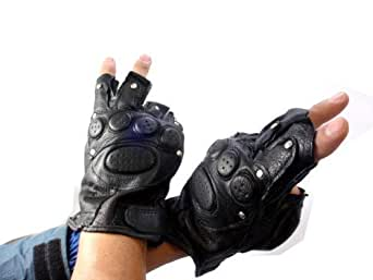 レザーグローブ(指抜き手袋 指ぬき手袋)ETG009