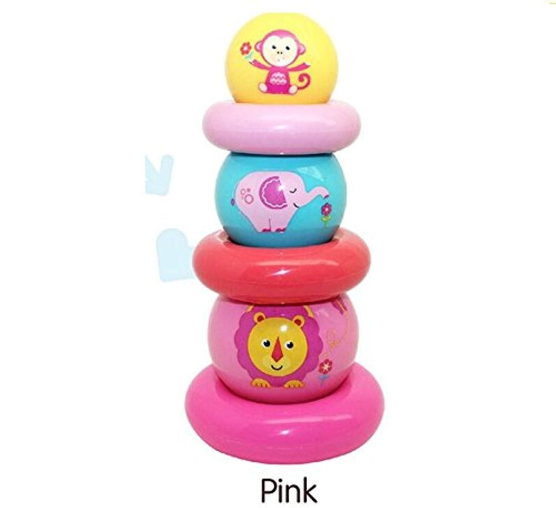 YChoice 可愛い赤ちゃんのおもちゃギフト 赤ちゃんの愛らしいプラスチックハンドスタッキングボール キッズ ベビー おもしろい おもしろい おもちゃ ボール ギフト