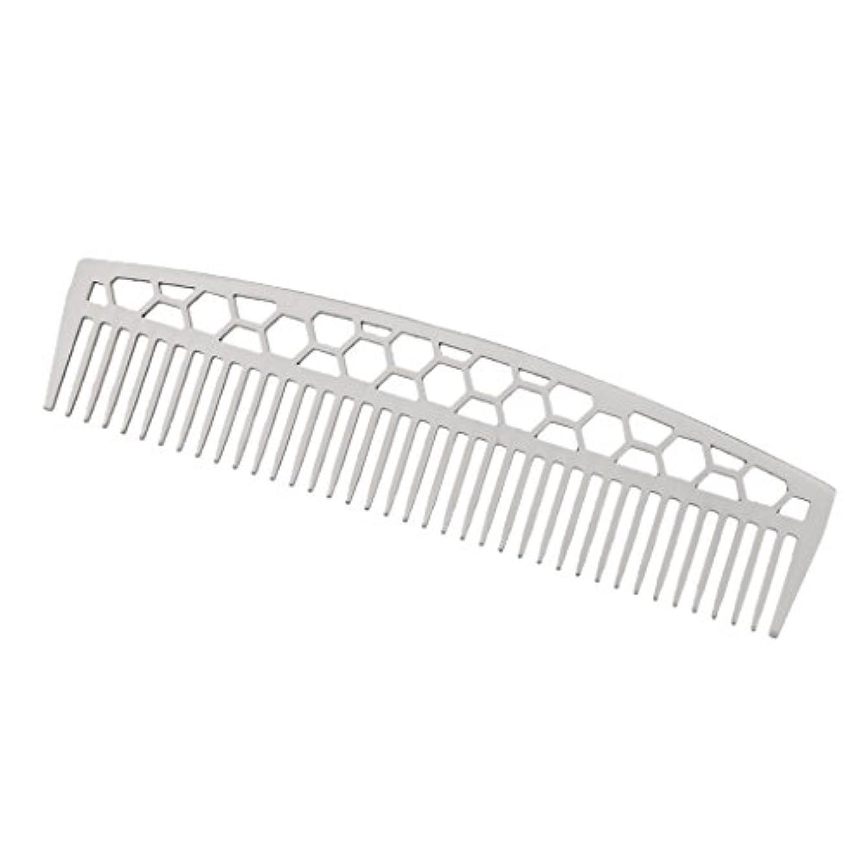家事移植極めて重要なビアードコーム ステンレス鋼 ひげ櫛 ヘアブラシ ヘアスタイリング 2タイプ - #1