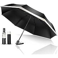 TSUNEO 日傘 折りたたみ傘 UVカット率99.9% 紫外線対策 UPF50+ 8本骨自動開閉 梅雨対策 晴雨兼用 台風 超撥水 軽量 折り畳み日傘 レディース メンズ 210T高密度NC布