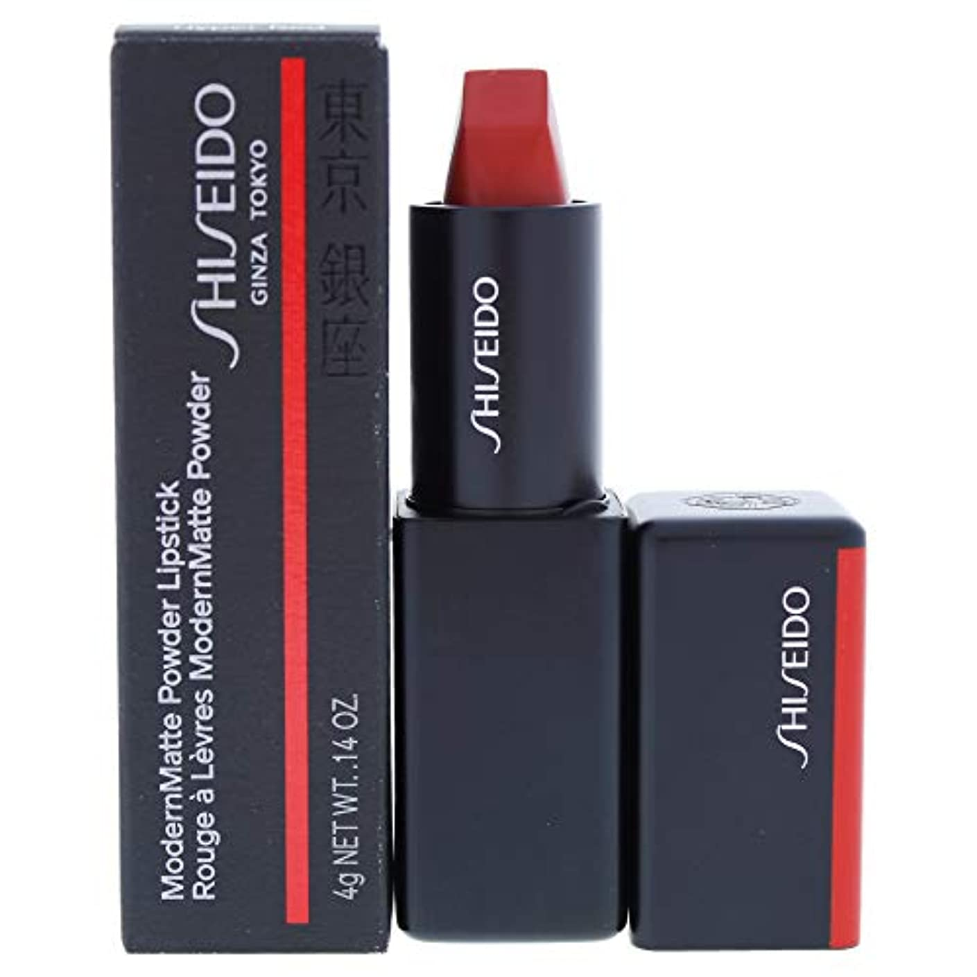 海外でおもしろいパネル資生堂 ModernMatte Powder Lipstick - # 514 Hyper Red (True Red) 4g/0.14oz並行輸入品