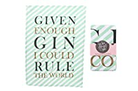 Pop Fizz Clink Cotton Gin Tea Towel Given Enough Gin I Could Rule The World