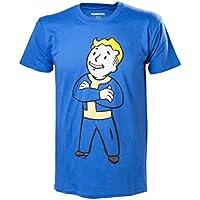 Fallout 4 フォールアウト4 Vault Boy Crossed Arms PS4 Xbox 公式 メンズ ブルーTシャツ