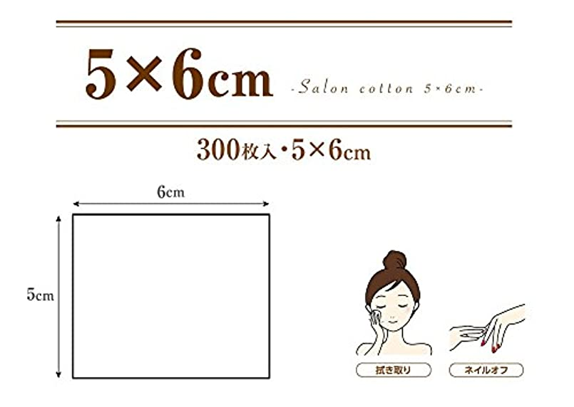 暴露するにぎやかダウン業務用 コットンパフ (5×6cm 300枚入 箱入り) サロンコットン 5×6