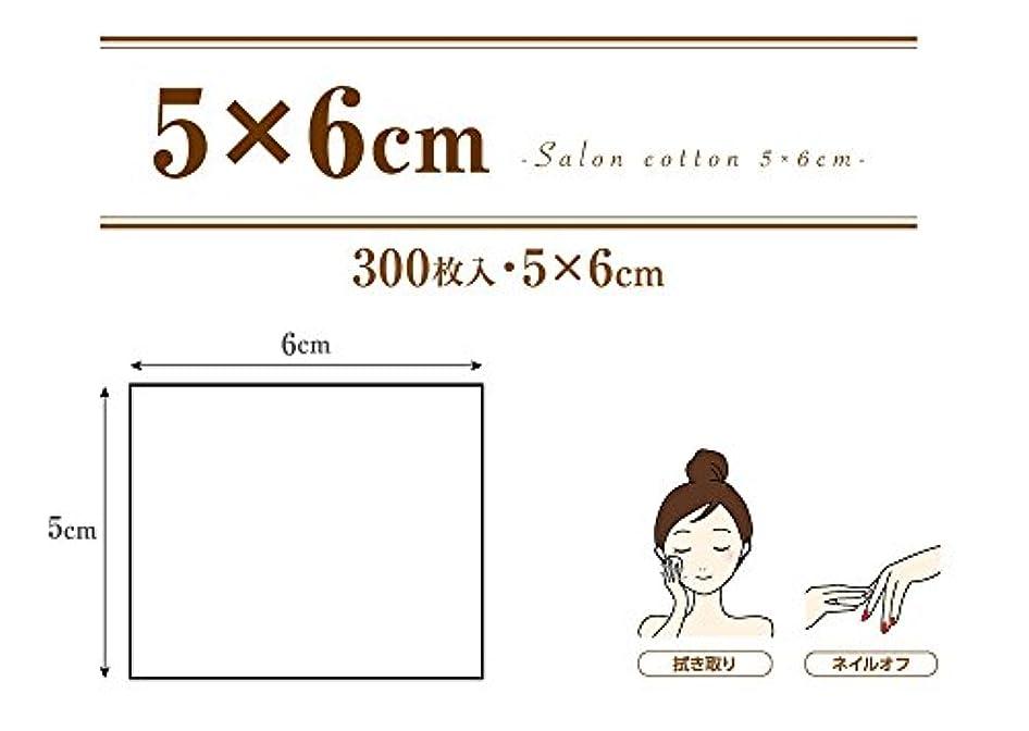やむを得ない本内部業務用 コットンパフ (5×6cm 300枚入 箱入り) サロンコットン 5×6
