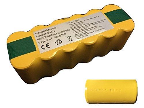 ルンバ用バッテリー 超長時間稼動4500mA 500・600・700・800・900シリーズ対応 【保証付き Orange Line 】