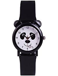 WOLFTEETH 子供 腕時計 パンダ 防水 小学生 キッズ ブラック 3064