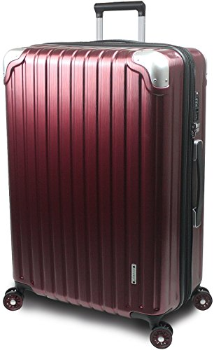 【SUCCESS サクセス】 スーツケース 3サイズ 【 大型 76cm / ジャスト型 70cm / 中型 65cm 】 超軽量 TSAロック搭載 【 プロデンス コーナーパットモデル】 (大型 Lサイズ 76cm , ワインヘアライン )