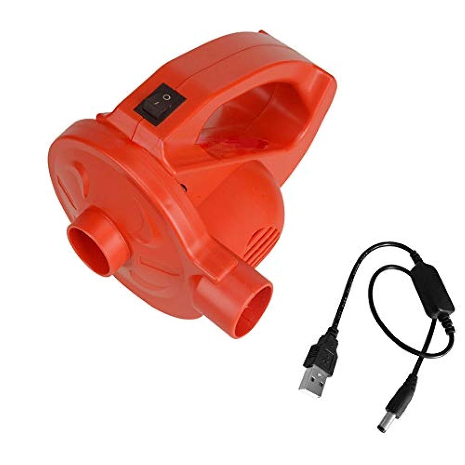 バンカー革命的喪OBEST 電動エアーポンプ ミニポータブル 空気ポンプ 空気入れ&空気抜き両対応 リチウム電池を内蔵 USB充電式エアーポンプ エアベッド用、水泳プール、浮き輪など