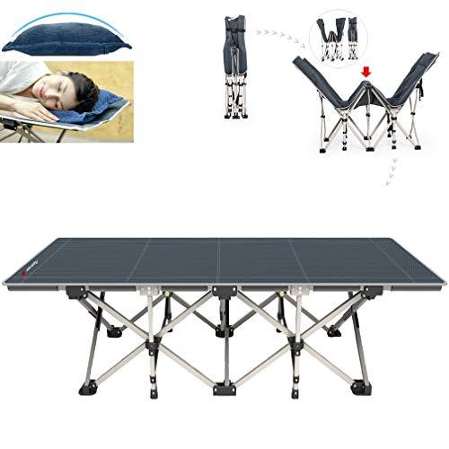 FLAMROSE キャンプ ベッド コット アウトドア ベッド キャンピングコット キャンピングベッド 簡易ベッド 折りたたみ式 イス 便利グッズ 寝具 (ブルー)