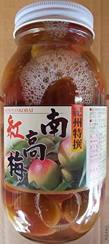 国産紀州産使用 梅甘露煮 ( 紅南高梅 ) 1000g ( 固形500g ) 業務用 瓶