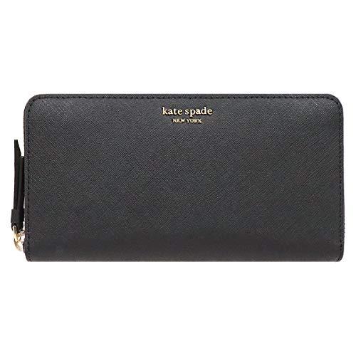[ケイトスペード] kate spade 財布(長財布) WLRU5448 ブラック レザー ラウンド ジップ ウォレット レディース [アウトレット品] [ブランド] [並行輸入品]