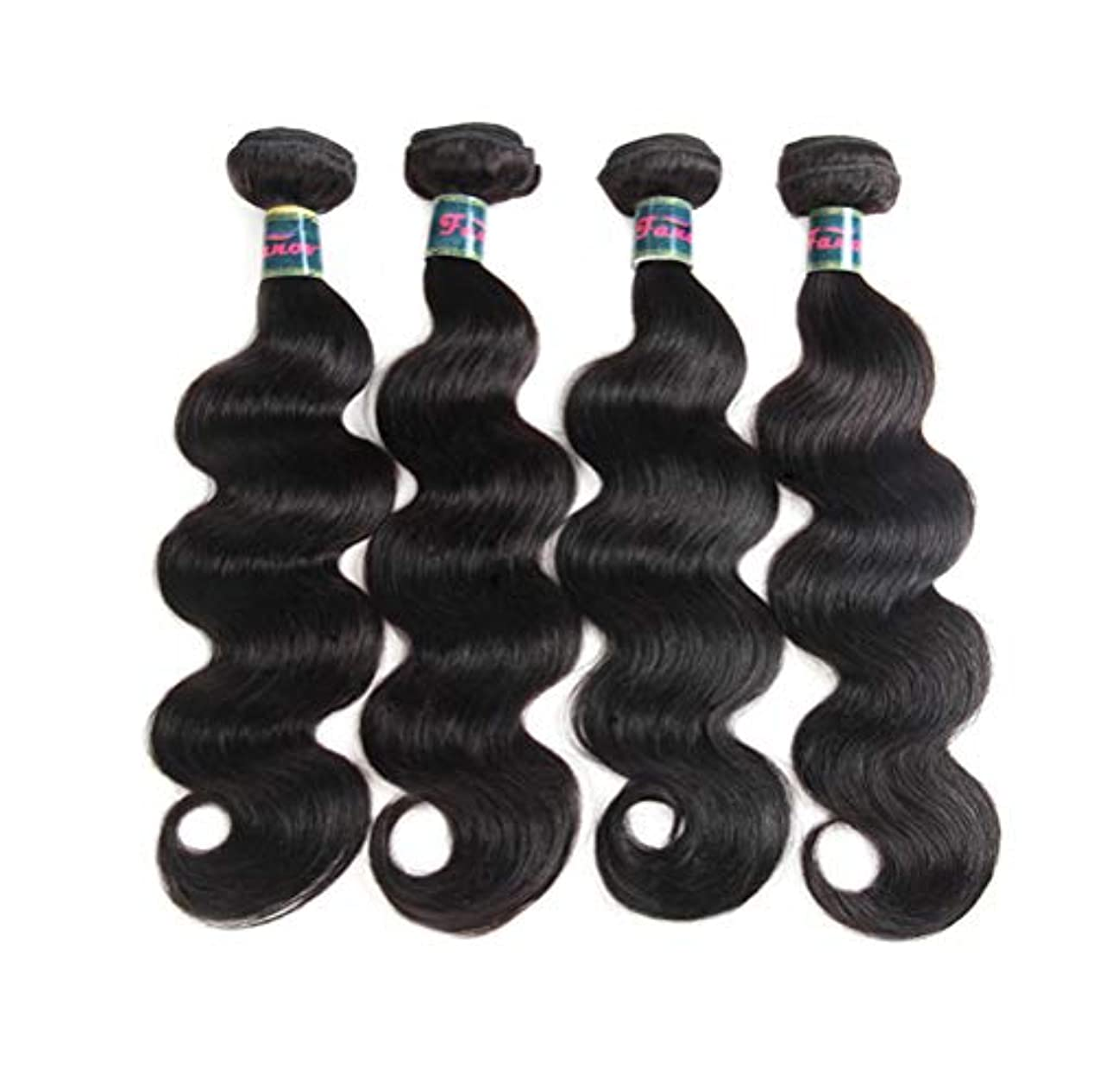 狂人愛国的な科学者髪織り女性ブラジル実体波バージンヘア1束閉鎖未処理人間のバージンヘア