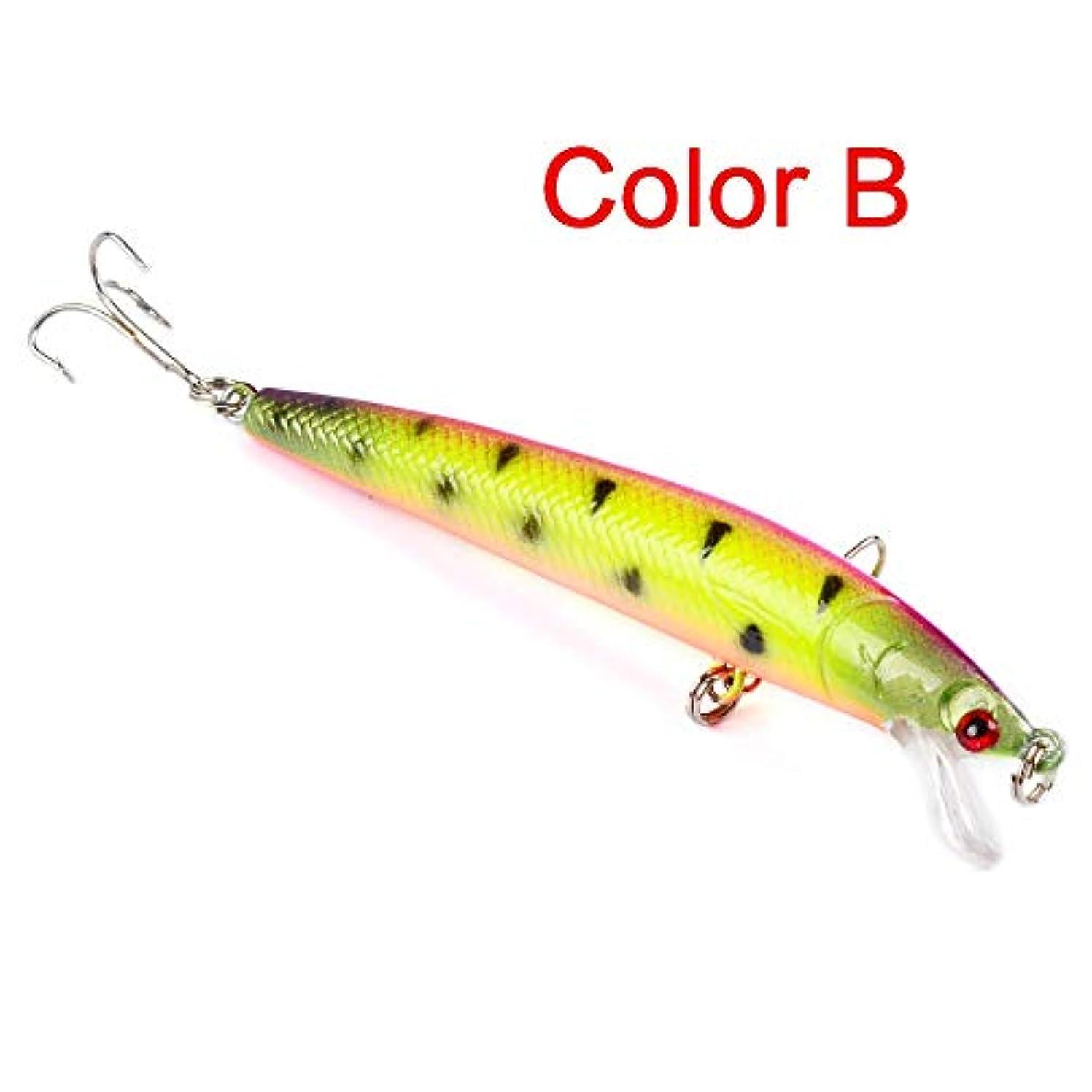 最大やめるそこからHkkint 釣り餌釣り餌10色道路ハード餌8.5 gルアー餌ミノー餌9.5 cm (Color : B)