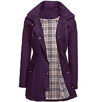 Kikibell Women Rain Jackets with Hood Waterproof Lightweight Raincoat Outdoor Windbreaker