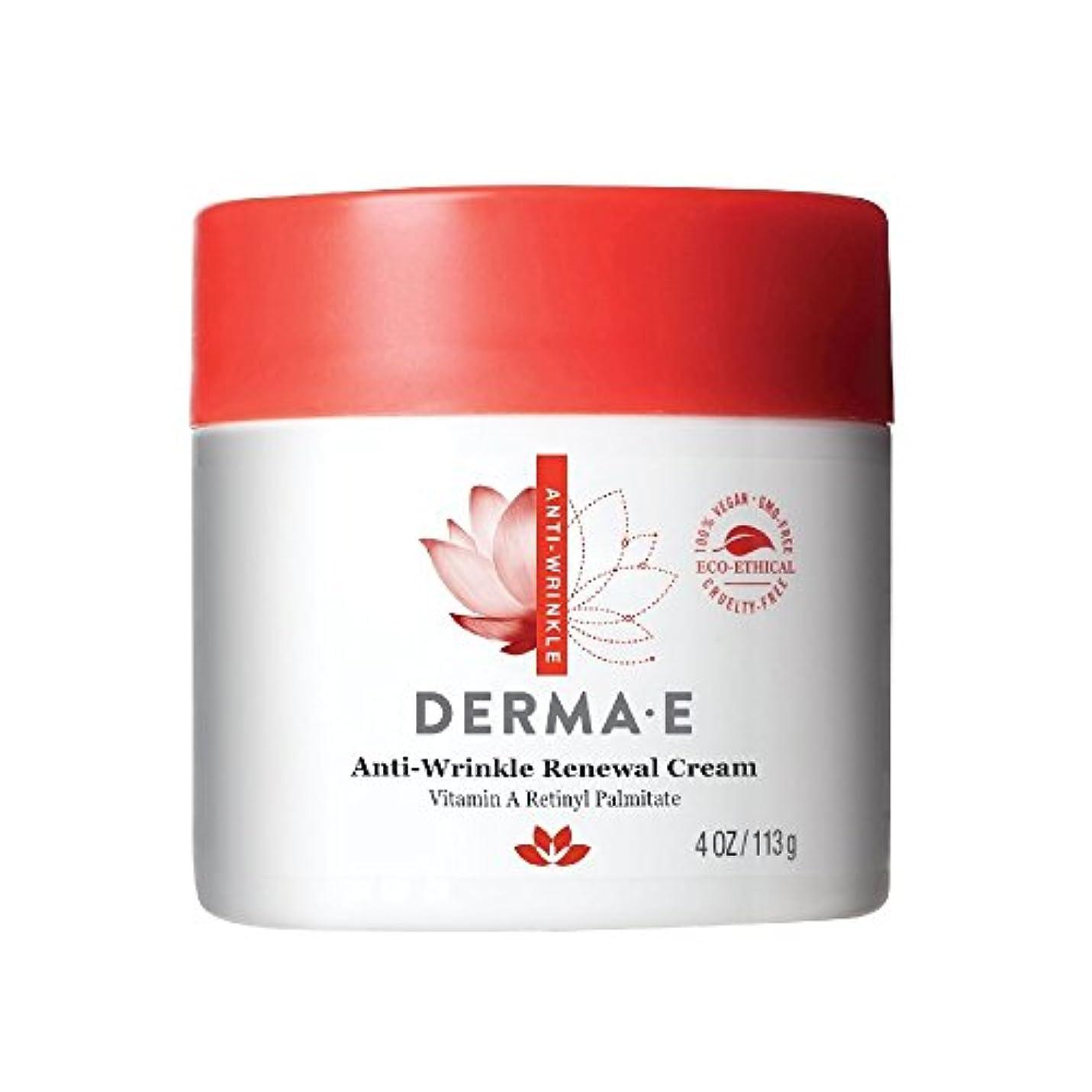 エージェントくすぐったい形成Derma E, Anti-Wrinkle Vitamin A Retinyl Palmitate Cream, 4 oz (113 g)