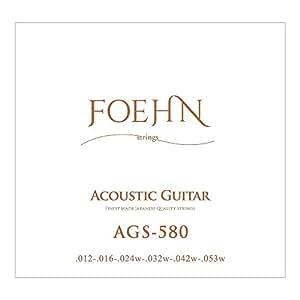 FOEHN AGS-580 Acoustic Guitar Strings Light 80/20 Bronze アコースティックギター弦 12-53