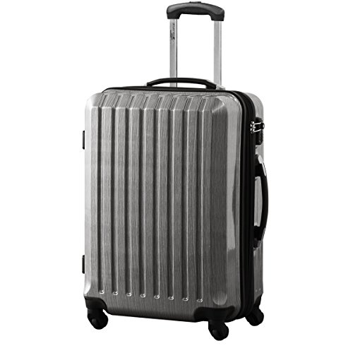 FIELDOOR スーツケース TSAロック搭載 機内持込可 軽量 アルミフレーム 鏡面ヘアライン仕上げ ・約55x39.5x27cm・3.2kg・3741リットル シルバー S