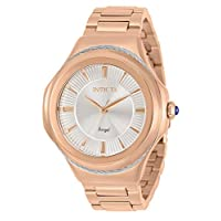 Invicta Women's Angel Quartz Watch with Stainless Steel Strap, Rose Gold, 18 (Model: 31077)