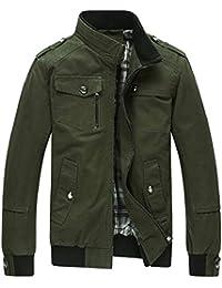 Fly Year-JP メンズカジュアルマルチポケットジャケット屋外軽量ボンバージャケットコート