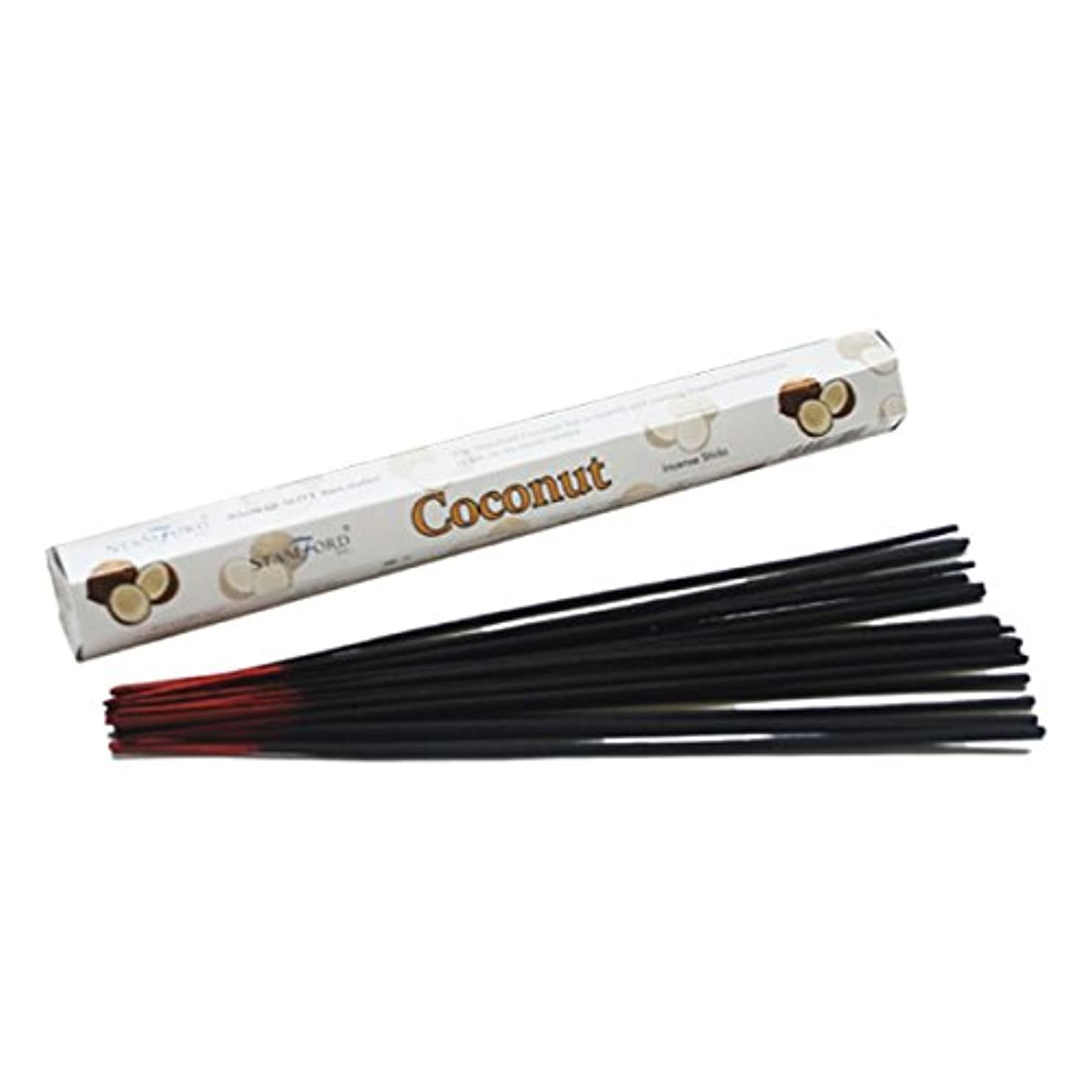 平日抜本的な閃光37140 Coconut Stamford Premium Hex Incense Sticks