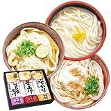 讃岐うどん 三趣三麺 味くらべ 3種類12食 ギフトセット (釜あげ ぶっかけ 醤油かけ)