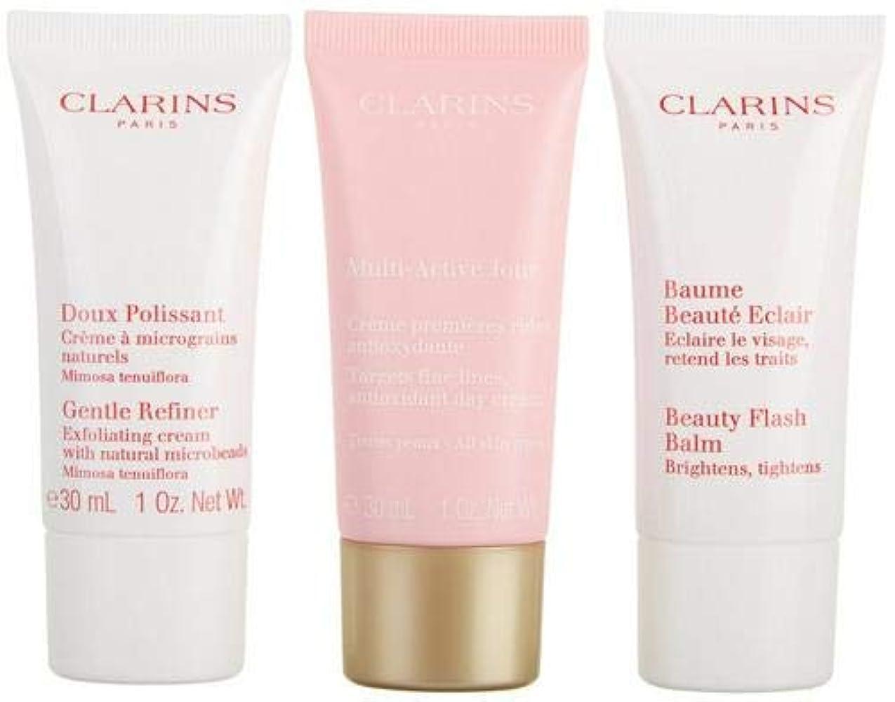不名誉キー測るクラランス Multi-Active 30+ Anti-Ageing Skincare Set: Gentle Refiner 30ml + Multi-Active Day Cream 30ml + Beauty Flash...