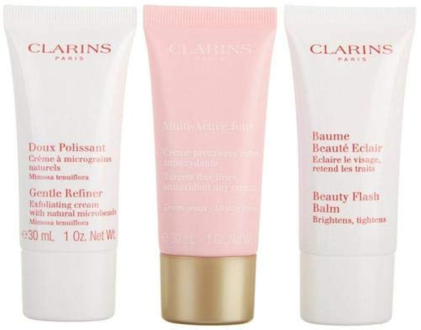 バルーンぶどうシエスタクラランス Multi-Active 30+ Anti-Ageing Skincare Set: Gentle Refiner 30ml + Multi-Active Day Cream 30ml + Beauty Flash...