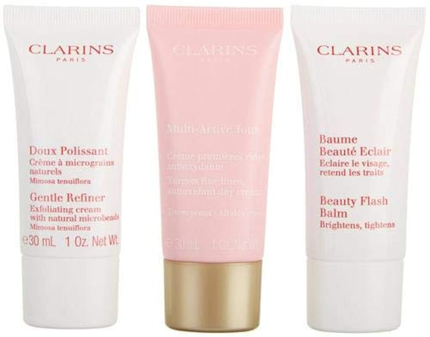 バックアップ広くピッチャークラランス Multi-Active 30+ Anti-Ageing Skincare Set: Gentle Refiner 30ml + Multi-Active Day Cream 30ml + Beauty Flash...