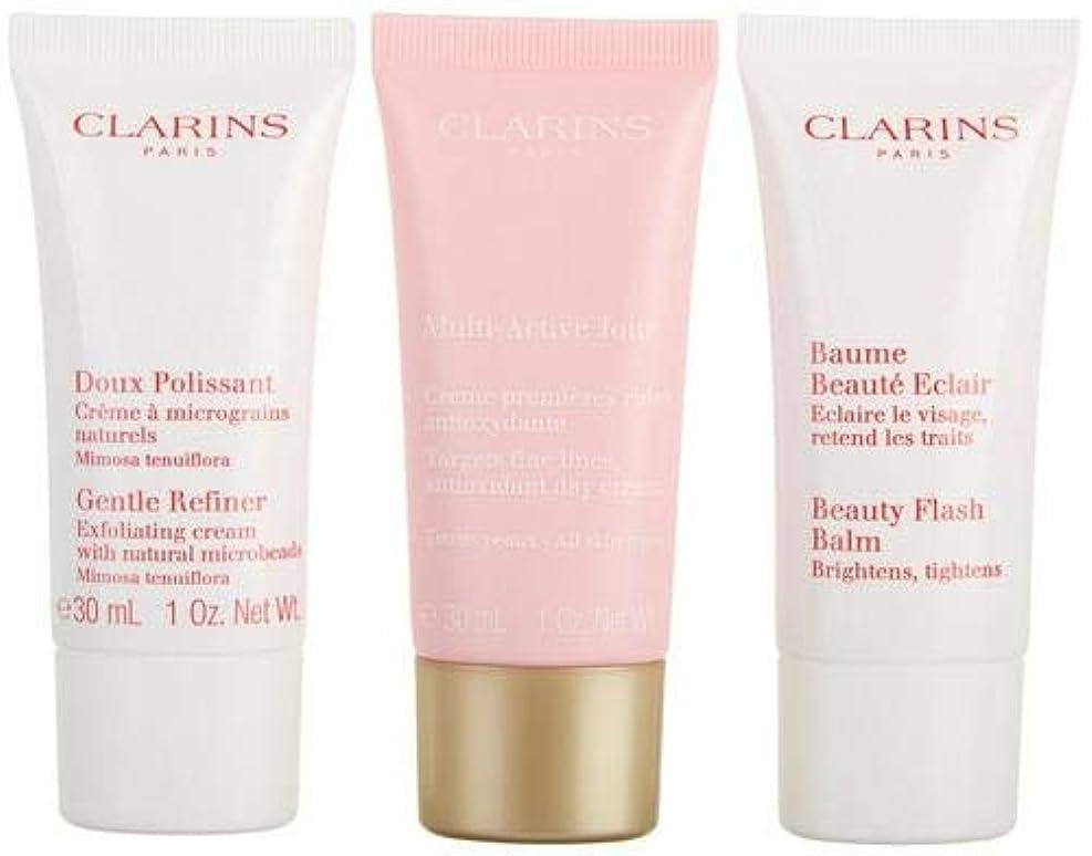 コンバーチブル不適切な放棄するクラランス Multi-Active 30+ Anti-Ageing Skincare Set: Gentle Refiner 30ml + Multi-Active Day Cream 30ml + Beauty Flash...