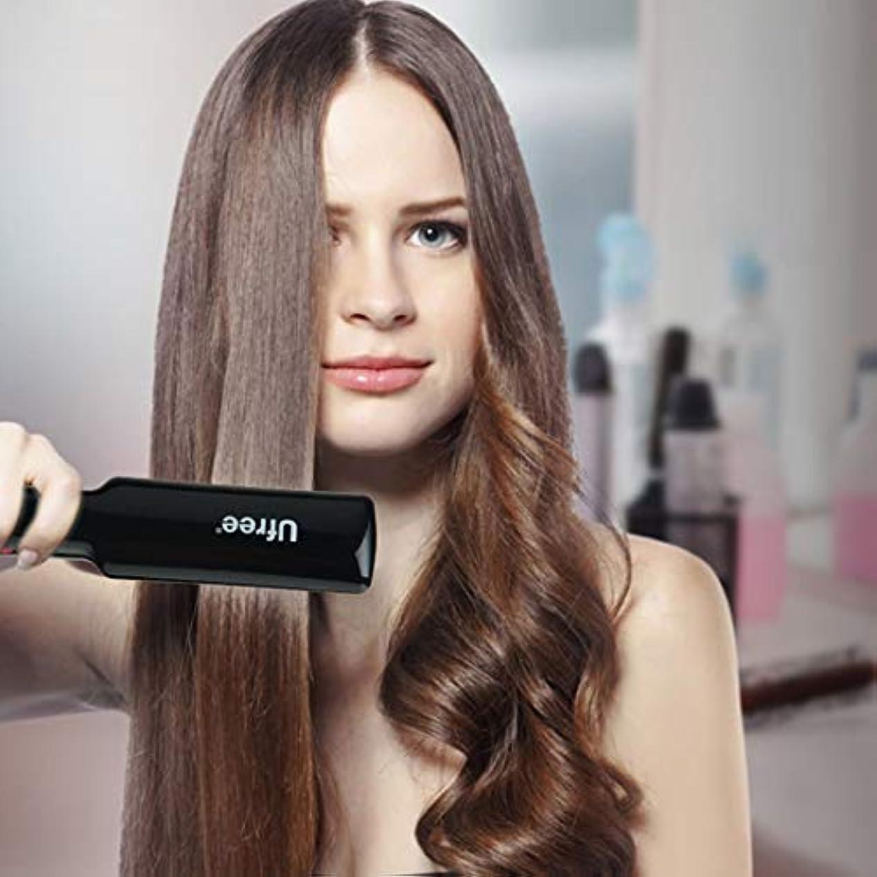 商業の減少クモMEI1JIA Ufree U-326デジタルディスプレイ恒温ストレートヘアアイロン電気合板理髪ツール、EUプラグ